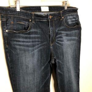 Caslon Jeans - Caslon Nordstrom dark blue skinny jeans 32